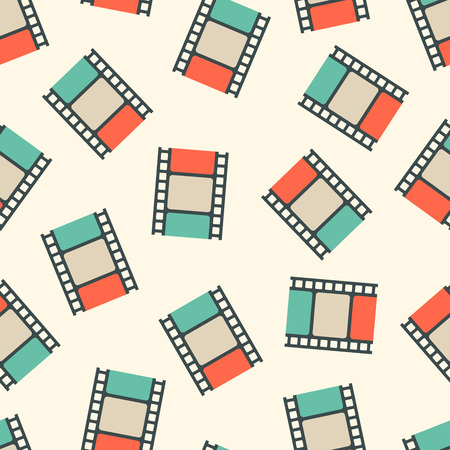 Movie film strips seamless pattern. Vector illustration Illustration