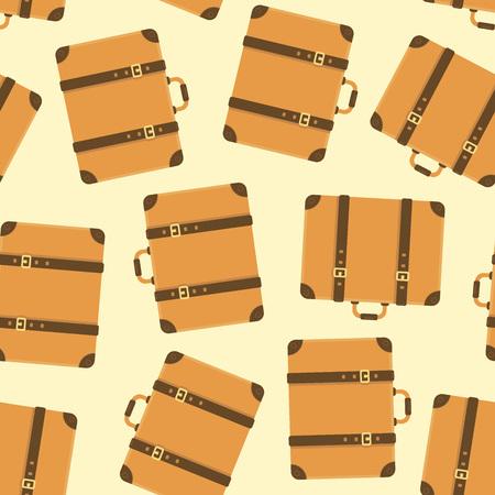 ヴィンテージスーツケースシームレスなパターン。ベクトルイラスト