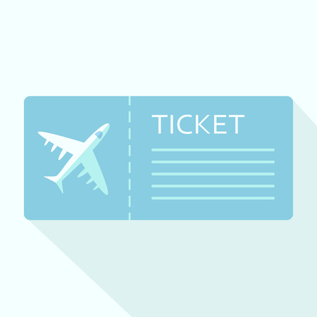Airline boarding pass ticket for traveling by plane. Vector illustration