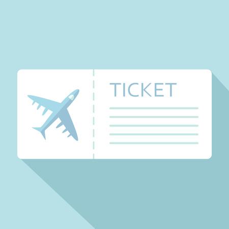 Luchtvaartmaatschappij instapkaart ticket voor reizen per vliegtuig over blauw. Vector illustratie