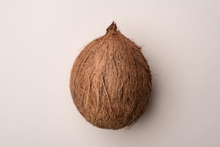 Coconut fruit isolated over white background