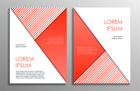 Abstract orange brochure design template. Vector illustration