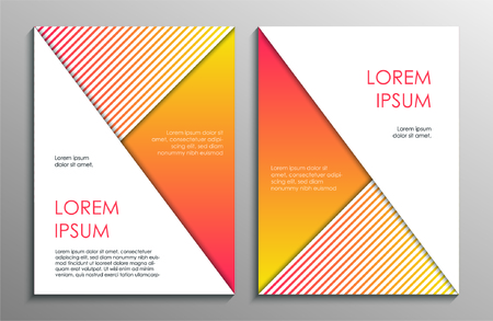 Abstract yellow brochure design template. Vector illustration