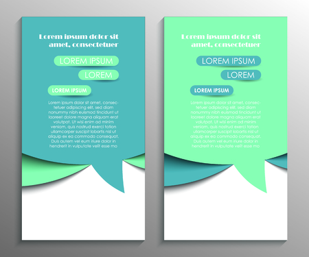 Abstract flyer design Illustration