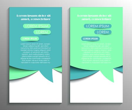 Conception de flyer abstrait