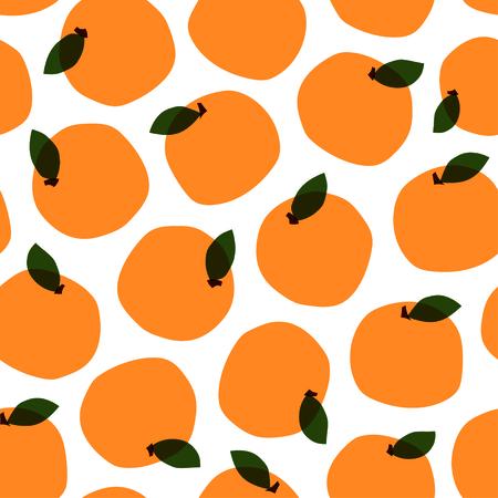 Orange pattern. Seamless decorative background with oranges. Bright summer design