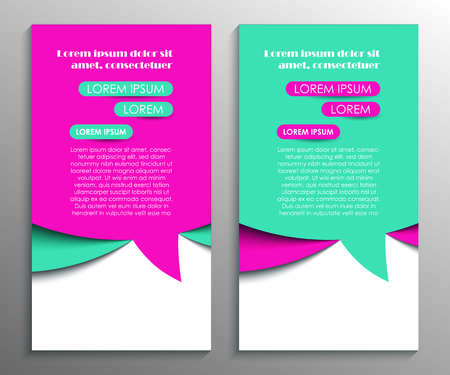 Abstract flyer design background. Brochure template
