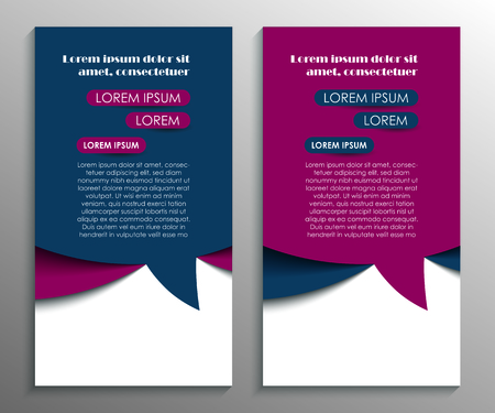 Business brochure flyer design template. Speech bubbles. Vector illustration 일러스트