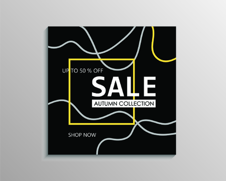 Up to 50 % off Sale. Black discount offer price sign. Special offer symbol. Autumn collection sale