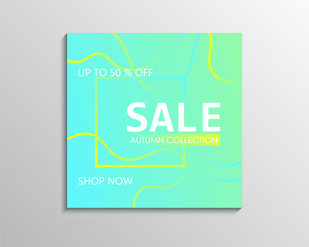 Up to 50 % off Sale. Blue discount offer price sign. Special offer symbol. Autumn collection sale