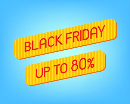 Black Friday Sale Banner template over blue background. Vector illustration Foto de archivo - 130059515