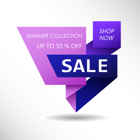 Up to 50 % off Sale. Discount offer price sign. Special offer symbol. Summer collection sale Foto de archivo - 130059537