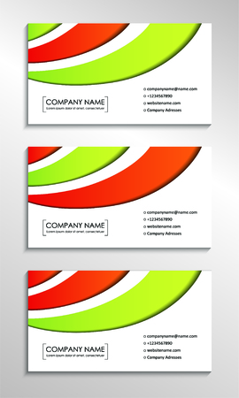 Business card templates with modern abstract background. Vector illustration Foto de archivo - 130059549