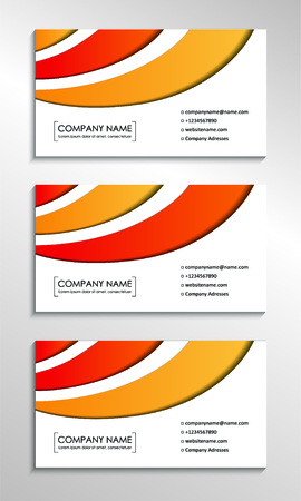 Business card templates with stylish abstract background. Vector illustration Foto de archivo - 130059551