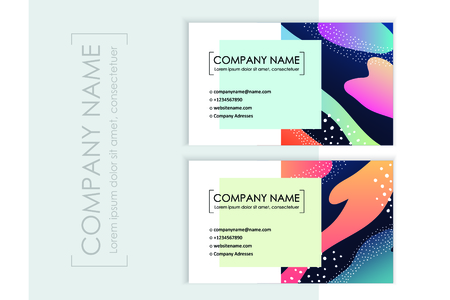 Corporate identity templates with colorful abstract background. Vector illustration  イラスト・ベクター素材