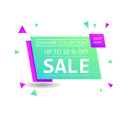 Up to 50 % off. Discount offer price sign. Special offer symbol. Summer collection sale