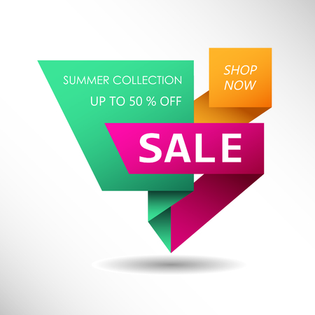 Up to 50 % off Sale. Discount price sign. Special offer symbol. Summer collection sale