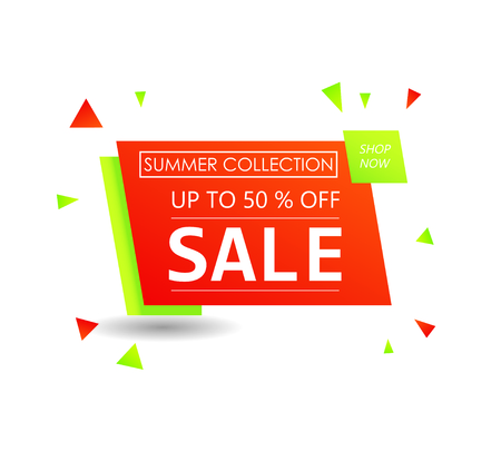 Up to 50 % off Sale. Discount offer price sign. Special offer symbol. Summer sale Foto de archivo - 130059614