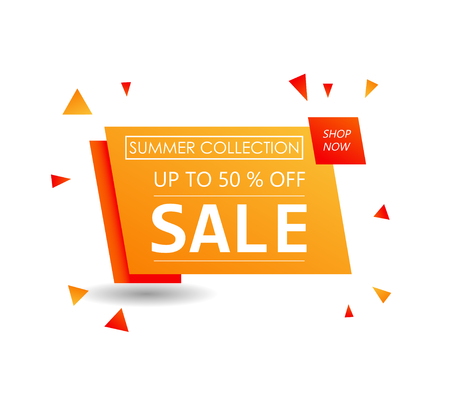 Up to 50 % off Sale. Special offer symbol. Summer collection sale Foto de archivo - 130059617