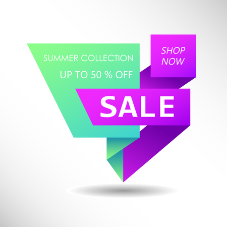 Discount offer price sign. Special offer symbol. Summer collection sale Иллюстрация