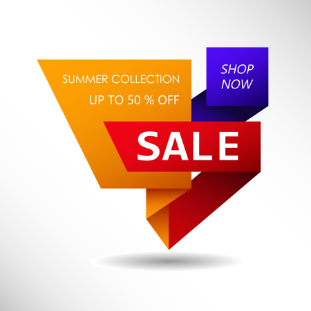 Up to 50 % off Sale. Discount offer price sign. Summer collection sale Иллюстрация