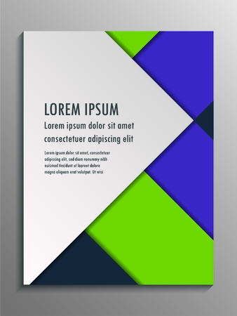 Business geometrical brochure flyer design template. Vector illustration