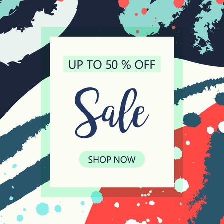 Sale 50% off, special offer, banner design template. Vector illustration Illusztráció