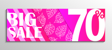 Up to 70% off Sale. Big Sale. Pink leaf pattern background