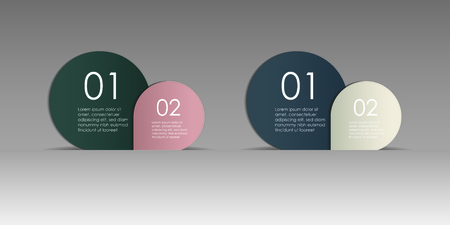 Numbered info circle layout set. Vector illustration