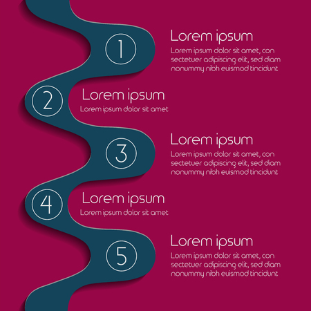 Infographic strategy design template with circles and text boxes