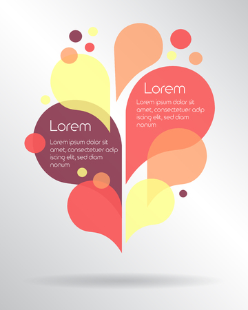 Colorful drops layout with place for your text. Vector illustration
