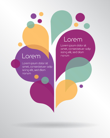 Modern colorful drops elements with place for your text. Vector illustration Illusztráció