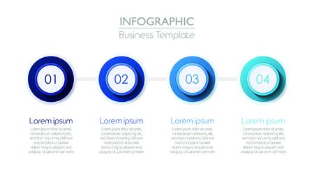 4 stage Infographic Diagram Slide Template. Vector illustration