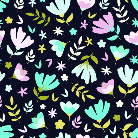 Beautiful abstract floral seamless pattern. Vector illustration