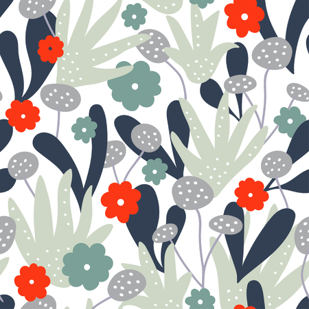 Abstract creative floral pattern background. Vector illustration