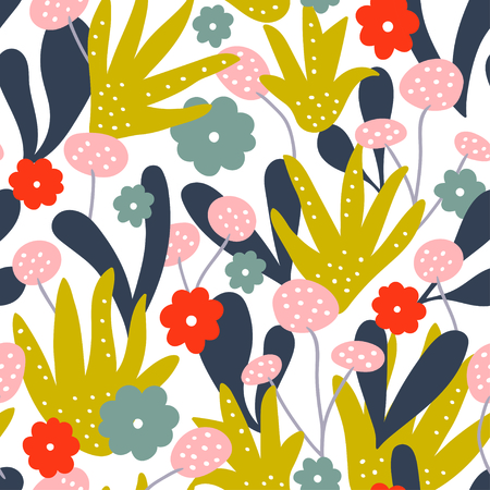 Abstract floral pattern background. Vector illustration Stock Illustratie