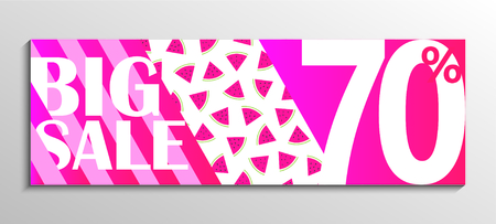 Big Sale up to 70 percent off pink background