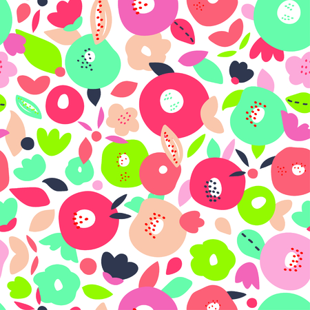 Abstract colorful floral pattern background. Vector illustration