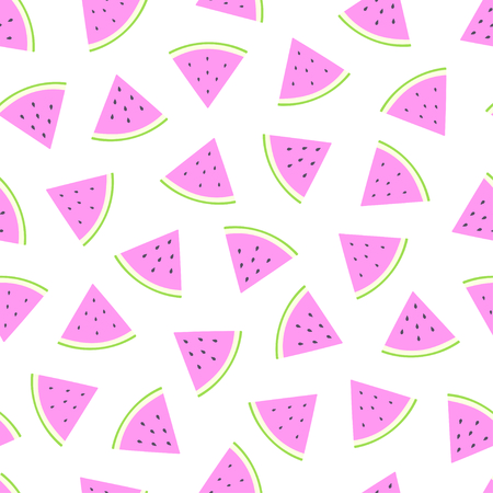 Cute simple watermelon slice seamless pattern background. Vector illustration 向量圖像
