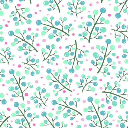 Simple floral seamless pattern. Vector illustration