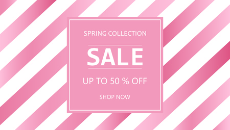 Sale. Vector sale background. Sale banner template - take up to 50% off. Shop now