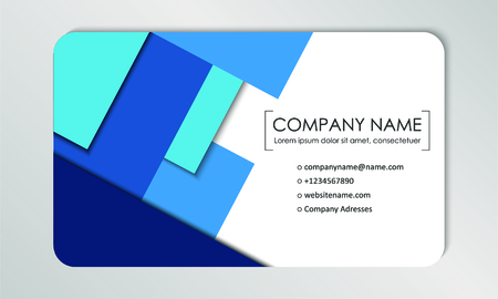 Modern business card template. Business cards with company logo. Abstract blue flat design. Vector illustration Logo