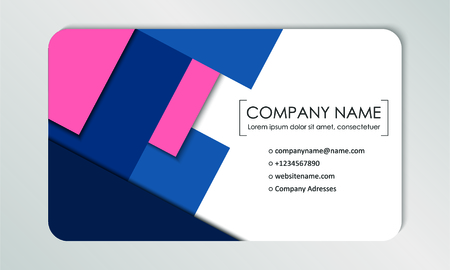 Modern business card template. Business cards with company logo. Abstract colorful flat design. Branding identification. Vector illustration Foto de archivo - 130059788