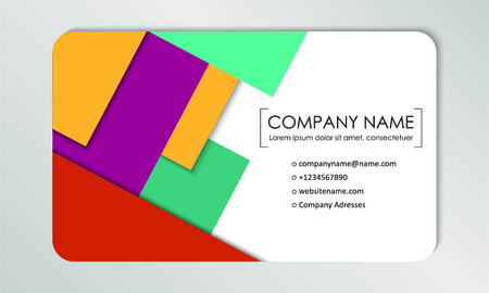 Modern business card template. Business cards with company logo. Abstract colorful flat design. Vector illustration Banque d'images - 130059789