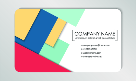 Modern business card template. Business cards with company logo. Abstract colorful flat design. Branding identification. Vector illustration Foto de archivo - 130059790