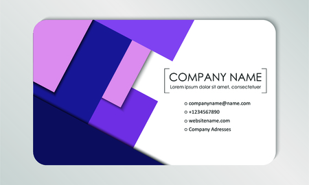 Modern business card template. Business cards with company logo. Abstract violet flat design. Vector illustration Banque d'images - 130059792