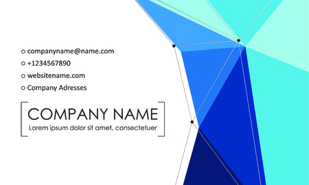 Modern business card template. Business cards with company logo. Abstract blue flat design. Vector illustration Foto de archivo - 130059793