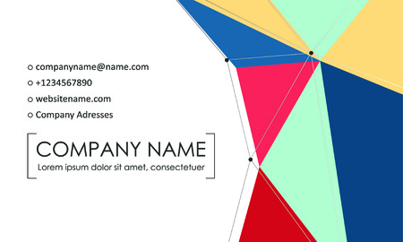 Modern business card template. Business cards with company logo. Abstract colorful flat design. Vector illustration Foto de archivo - 130059794