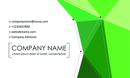 Modern business card template. Business cards with company logo. Abstract green flat design. Vector illustration Banque d'images - 130059795