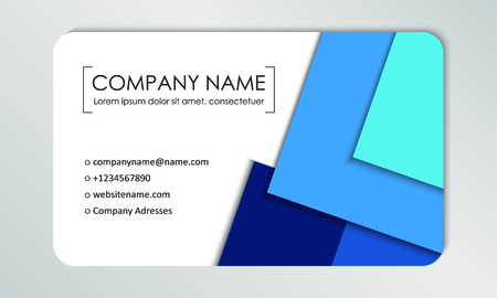 Modern business card template. Business cards with company logo. Abstract blue flat design. Vector illustration Foto de archivo - 130059796
